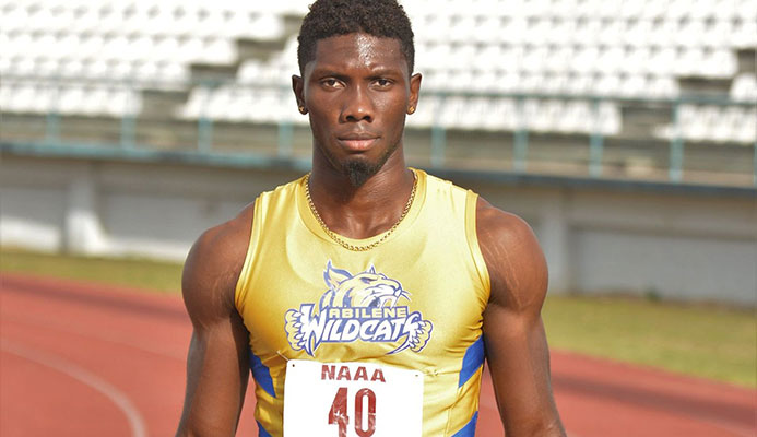 Abilene Wildcats sprinter Jerod Elcock did the sprint double at the Abilene Wildcats Track Classic at the Larry Gomes Stadium in Malabar, Arima in May.