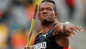 TT's Keshorn Walcott competes in the men's javelin throw final during the Pan American Games in Lima, Peru, yesterday.